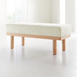 Prescott Oak Upholstered Bench
