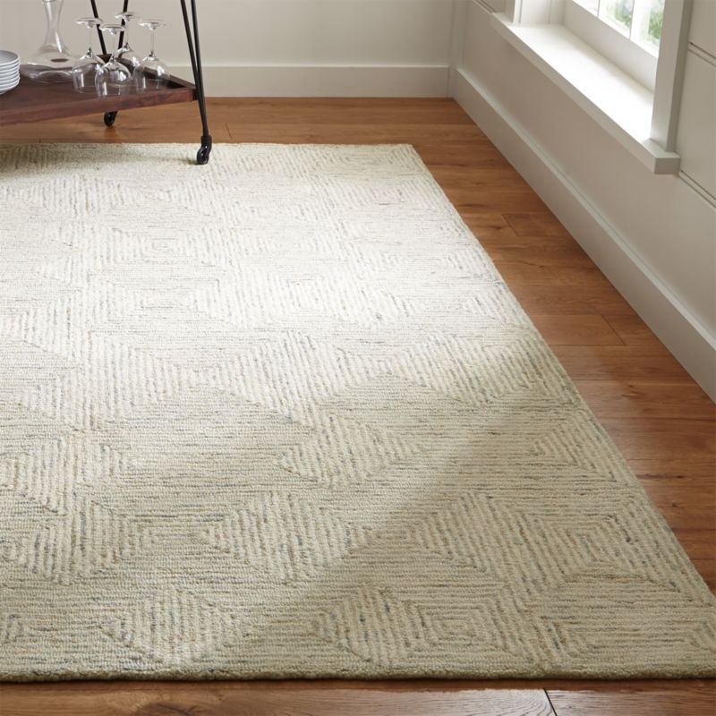 Presley Neutral Heathered Rug Crate and Barrel