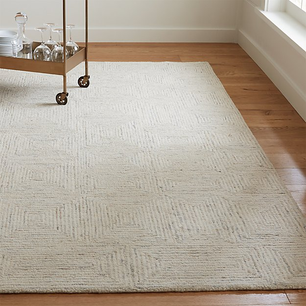 Presley Neutral Wool Rug Crate And Barrel