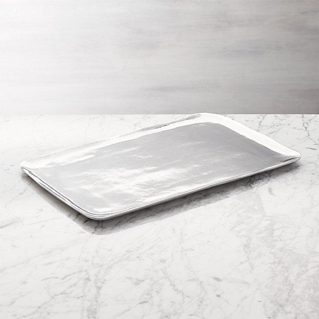 Preston Rectangular Metal Serving Platter