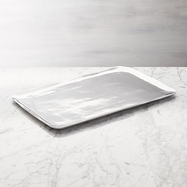 metal serving tray in serving platters reviews crate and barrel