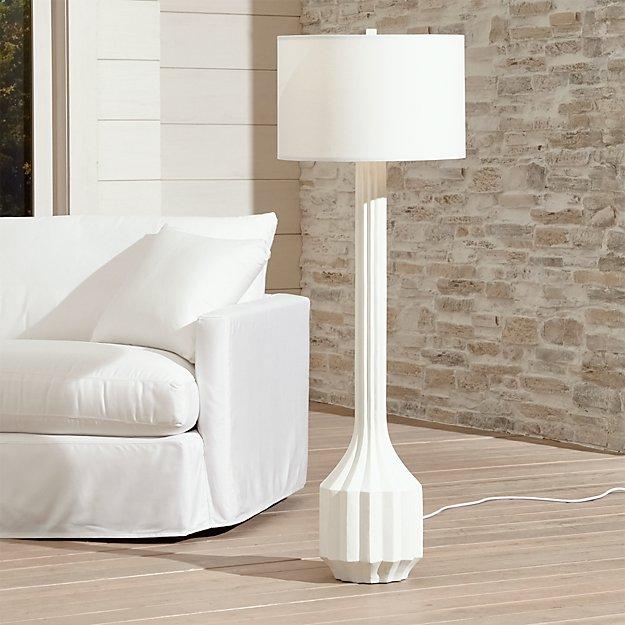 prism outdoor floor lamp crate and barrel. Black Bedroom Furniture Sets. Home Design Ideas