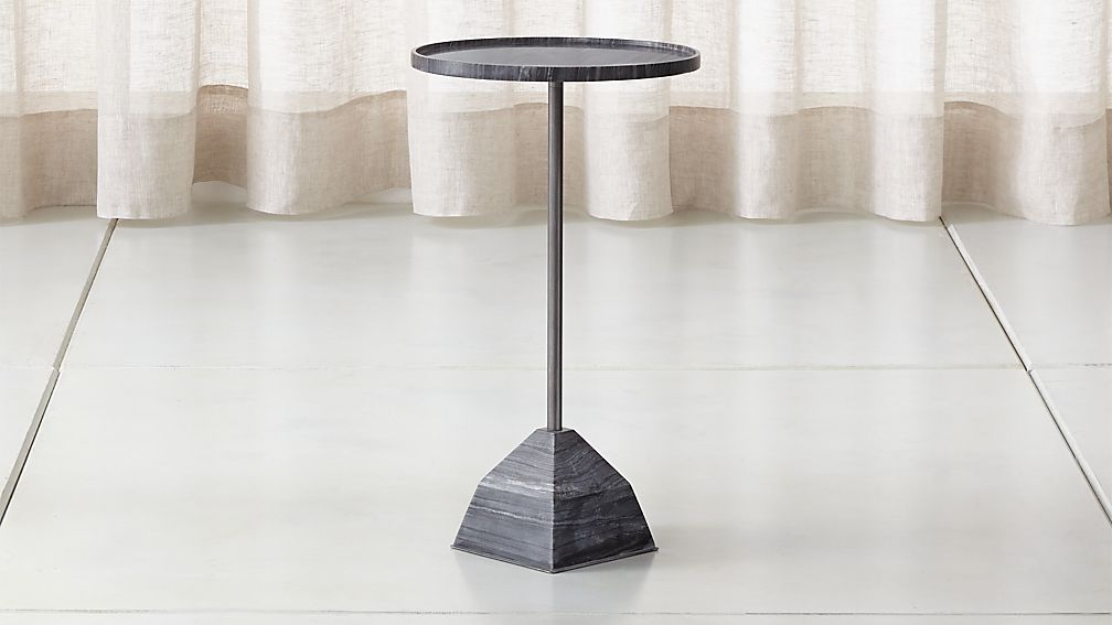 Prost Medium Marble Drink Table - Image 1 of 12