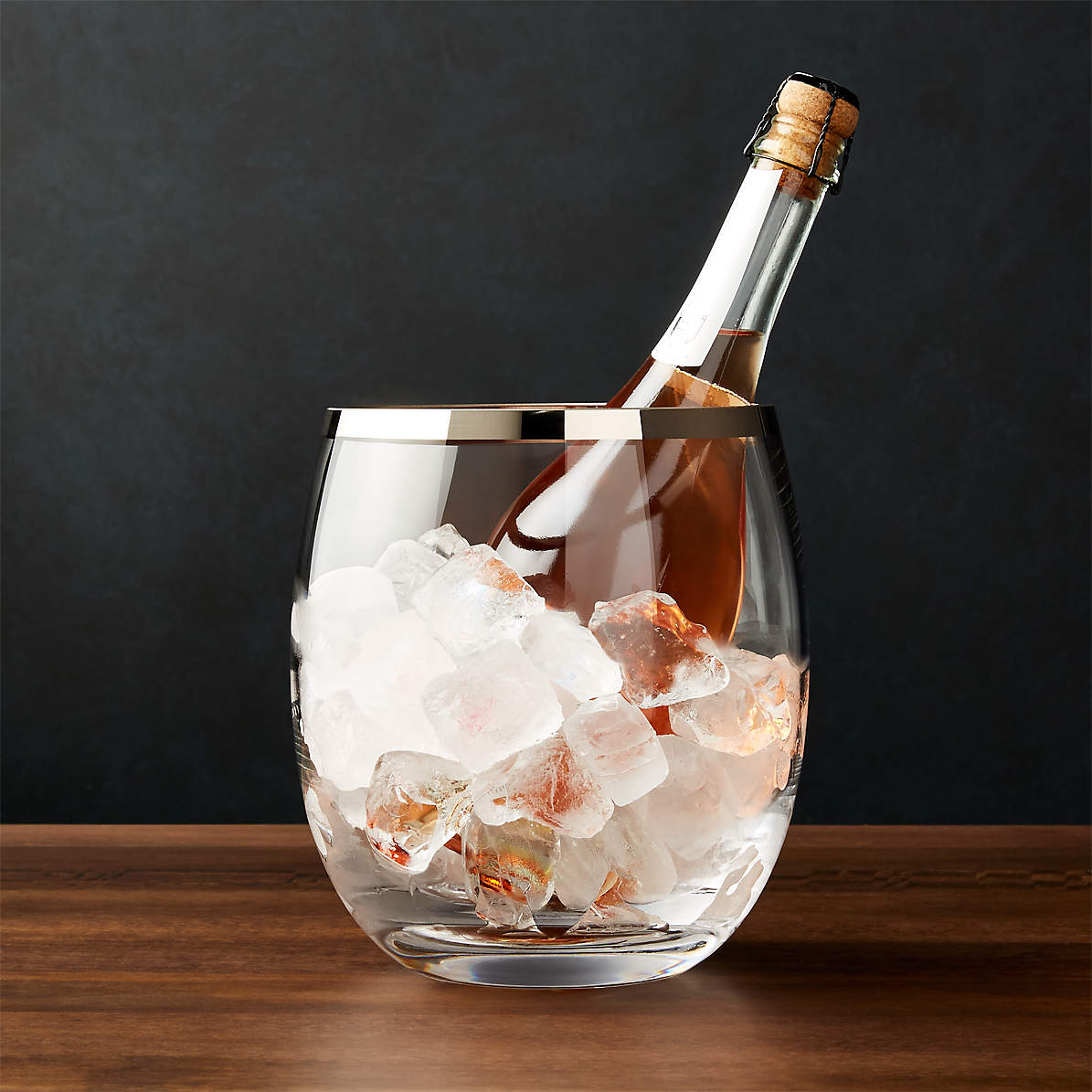 Pryce Champagne Ice Bucket Reviews Crate And Barrel