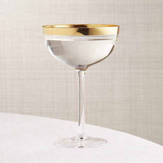 Pryce Gold Coupe Glass - Image 1 of 7