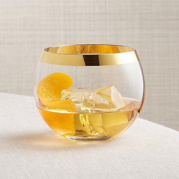 Pryce Gold Rocks Glass - Image 1 of 5