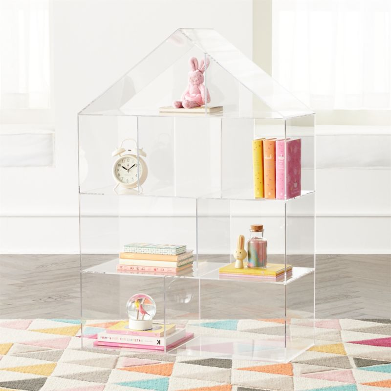 Acrylic House Bookcase In Bookcases Reviews Crate And