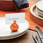 Pumpkin Place Card Holder