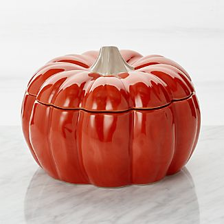 Large Pumpkin Serving Bowl With Lid
