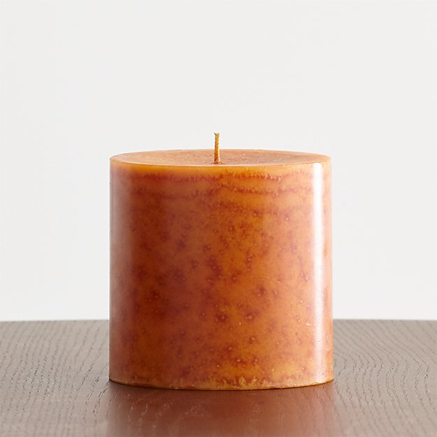 "Pumpkin Spice 4""x4"" Scented Pillar Candle"