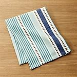 Punctuate Blue Dish Towel