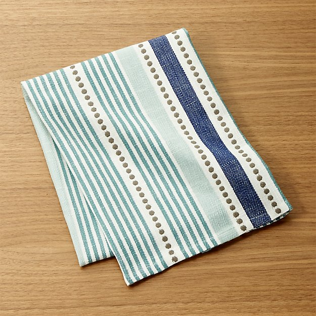 Punctuate Blue Dish Towel Reviews Crate And Barrel