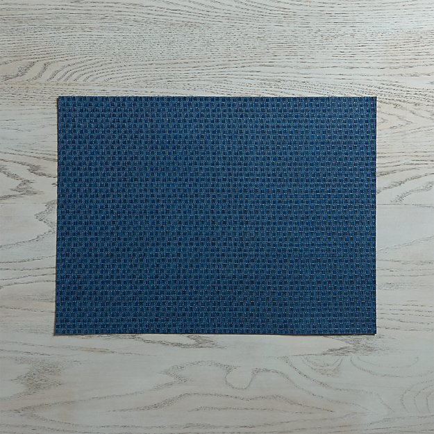 Chilewich ® Purl Blue Vinyl Placemat - Image 1 of 5