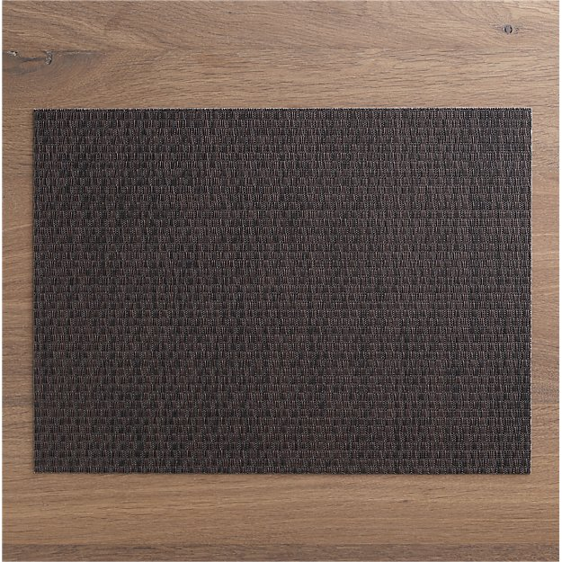 Chilewich 174 Purl Bronze Vinyl Placemat Crate And Barrel