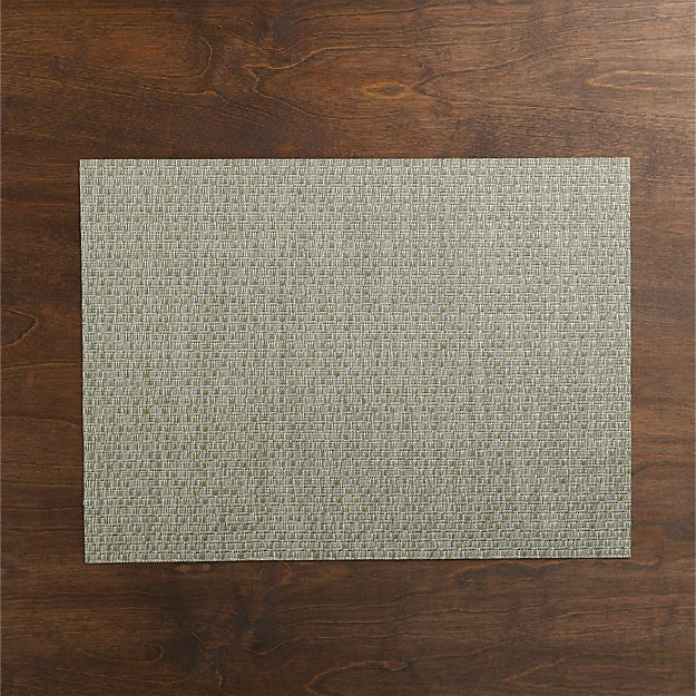 Chilewich ® Purl Silver Vinyl Placemat - Image 1 of 7