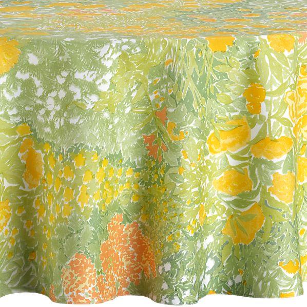 """Marimekko Puutarha 72"""" Round Tablecloth"""
