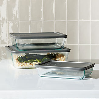 Pyrex ® 6-Piece Rectangular Storage Set