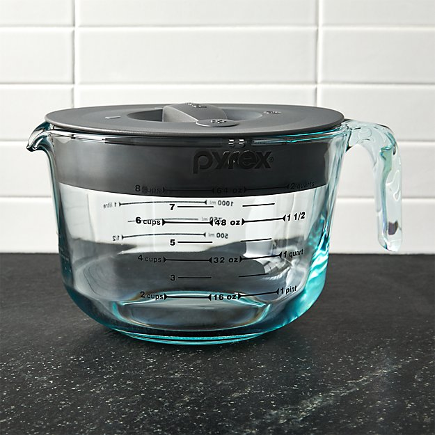 Pyrex 8 Cup Measuring Cup With Lid Reviews Crate And