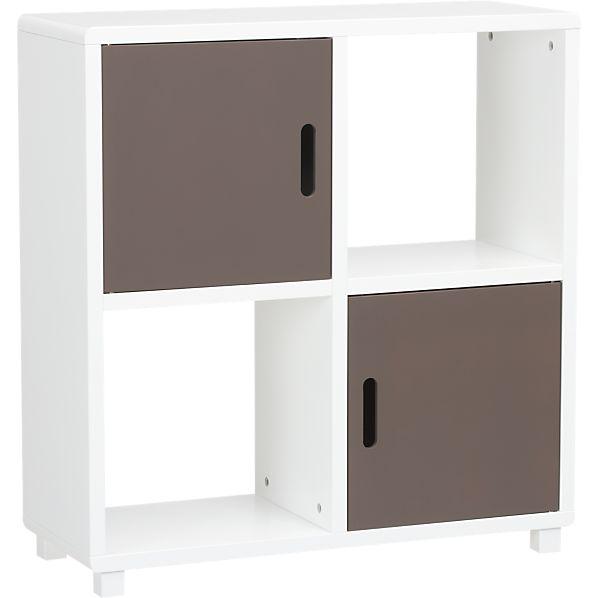 Qube 4-Section Grey Storage Unit