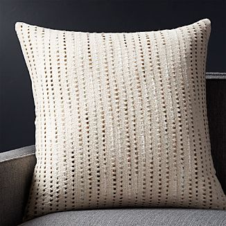 "Quent Natural 23"" Pillow with Down-Alternative Insert"