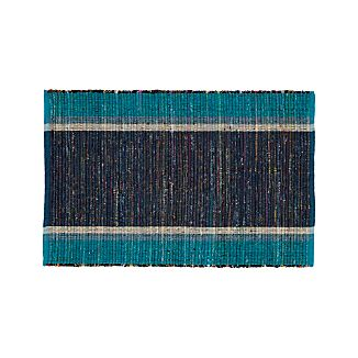 Quentin Blue Cotton 2'x3' Rug