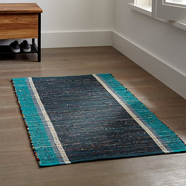 Quentin Blue Cotton Rug