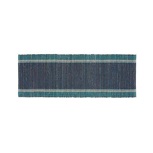 Quentin Denim Blue 2.5'x6' Rug Runner