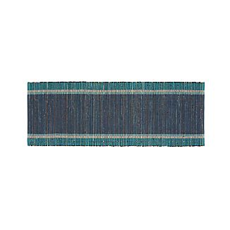 Quentin Denim Blue 2.5'x6' Rug Runner