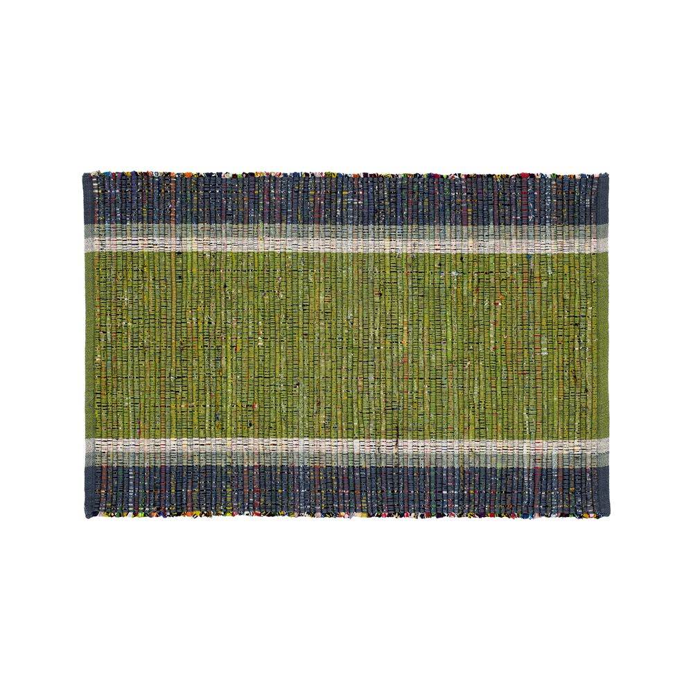 Quentin Green Cotton 2'x3' Rug - Crate and Barrel