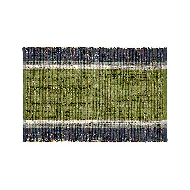 Quentin Green Cotton 2'x3' Rug