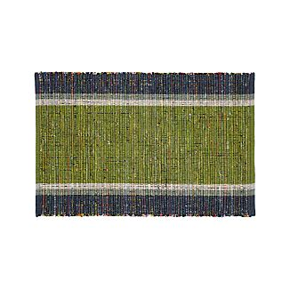 Quentin Green Cotton 2'x3' Rug