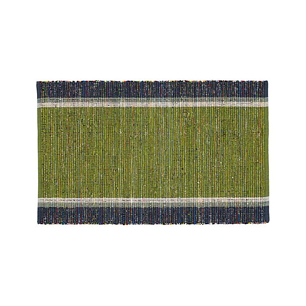 "Quentin Green Cotton 30""x50"" Rug"