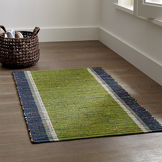 Quentin Green Cotton Rug