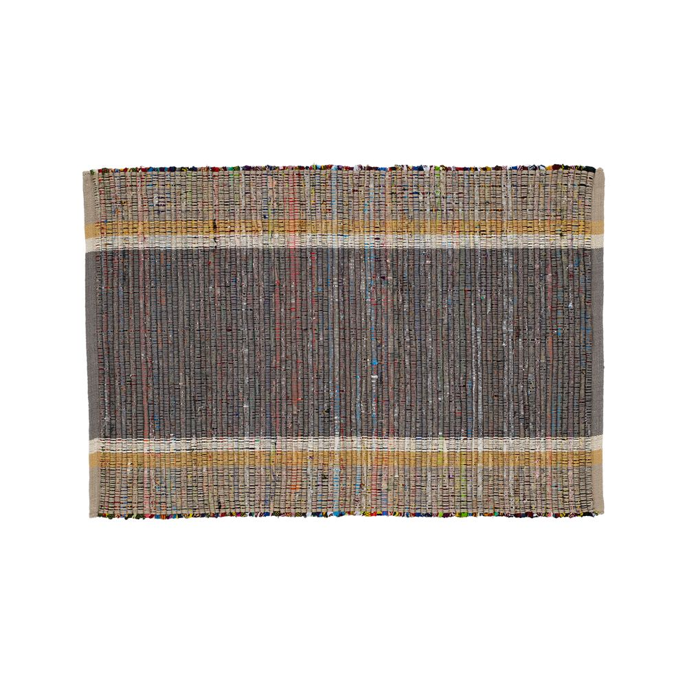 Quentin Grey Cotton 2'x3' Rug - Crate and Barrel
