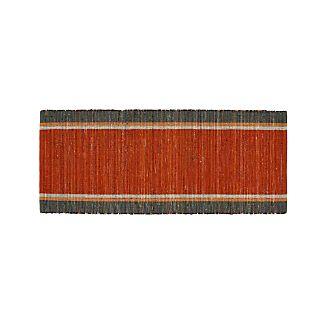 Quentin Orange Cotton 2.5'x6' Rug Runner