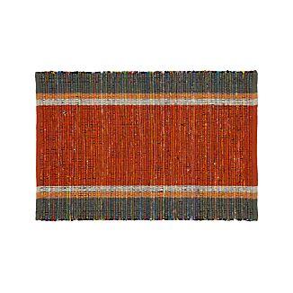 Quentin Orange Cotton 2'x3' Rug
