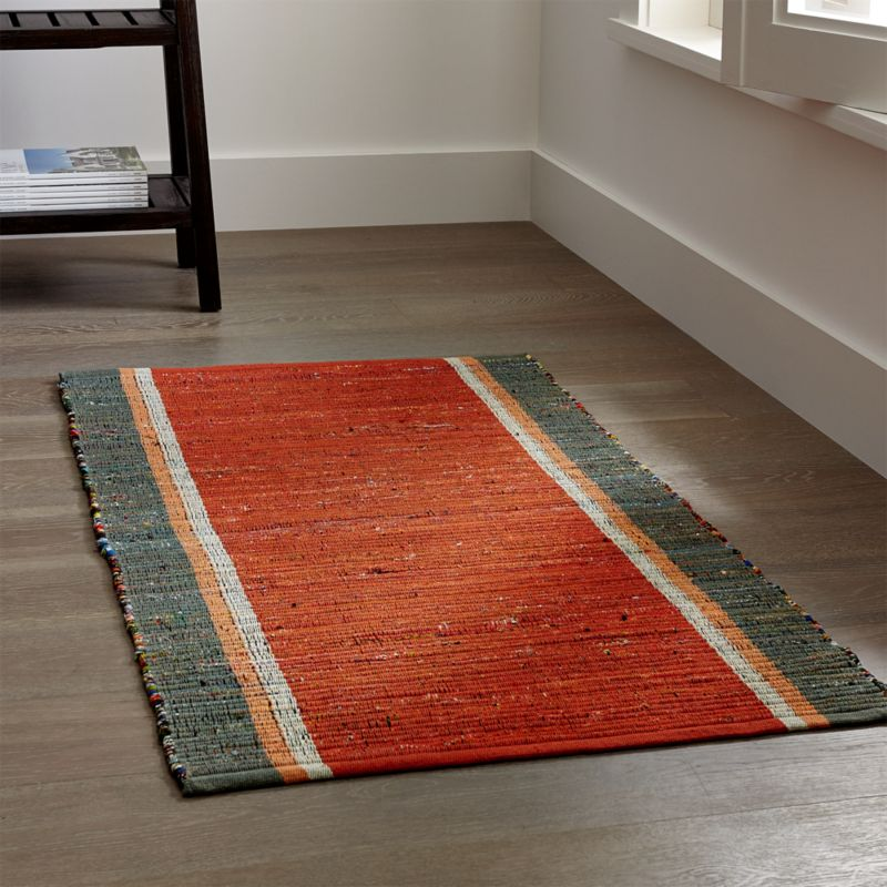 quentin orange cotton rug. Interior Design Ideas. Home Design Ideas