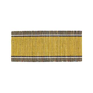 Quentin Yellow Cotton 2.5'x6' Rug Runner