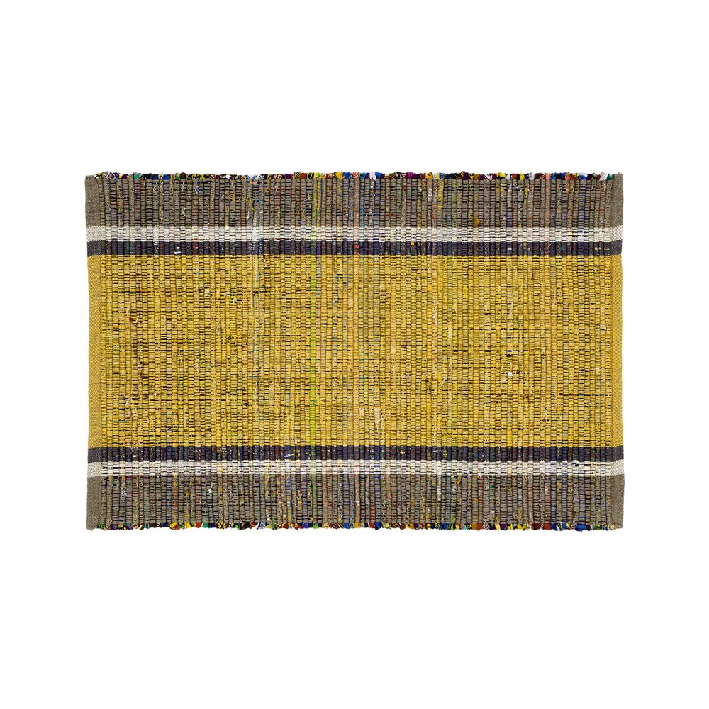 Quentin Yellow Cotton 2'x3' Rug - Crate and Barrel
