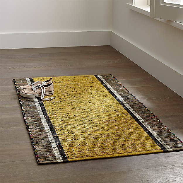 Quentin Yellow Cotton Rug