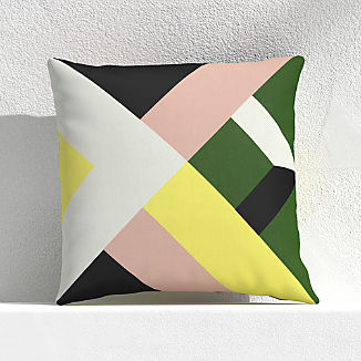 """Quilt Stripe Cactus 20"""" Outdoor Pillow"""
