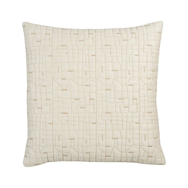 """Quilted Silk 18"""" Pillow"""