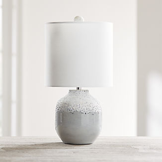 Quinn Grey and White Table Lamp