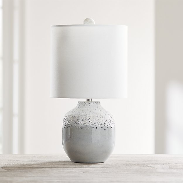 Quinn Grey and White Table Lamp - Image 1 of 6
