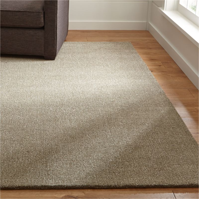 Quinn taupe wool rug crate and barrel for Sofa abel 3 cuerpos tela taupe