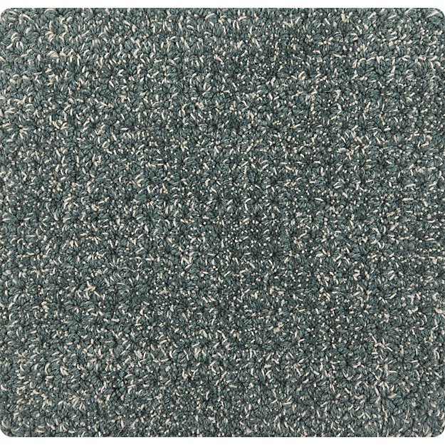 """Quinn Teal Wool 12"""" sq. Rug Swatch"""