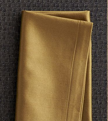 Dark yellow cloth napkin
