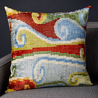 Rada Silk Velvet Ikat Pillow 23""