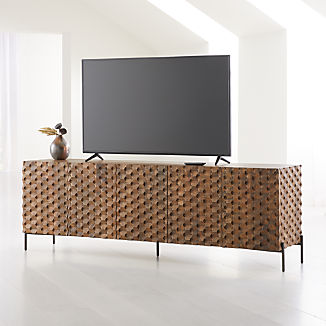Raffael Carved Wood Media Console
