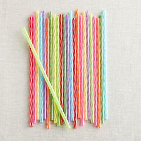 Rainbow Reusable Straws, Set of 24 + Reviews   Crate and Barrel Canada